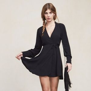 SALE Reformation Mallie Dress Black L